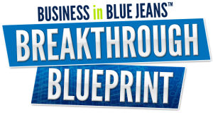 Business in Blue Jeans Breakthrough Blueprint logo