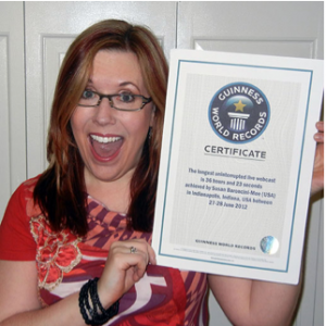 Susan Baroncini-Moe and her Guinness World Records record